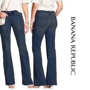 Banana Republic Wide Leg Jeans Stretch Size 28/6